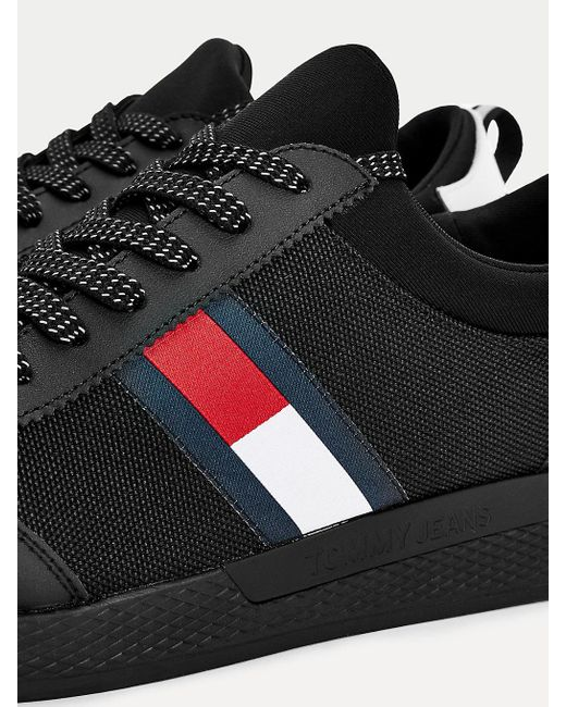 Baskets stretch à lacets Tommy Hilfiger pour homme en coloris Black