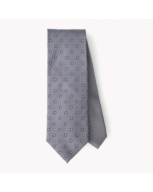 Tommy Hilfiger | Gray Dotted Silk Tie for Men | Lyst
