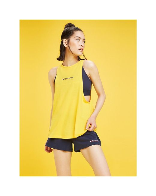 Tommy Hilfiger Yellow Slouchy Logo Tank Top