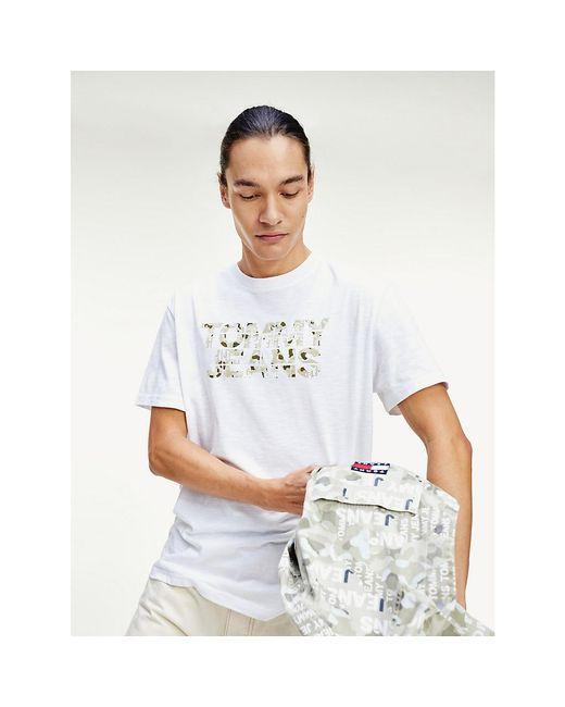 Tommy Hilfiger White Camo Logo T-shirt for men