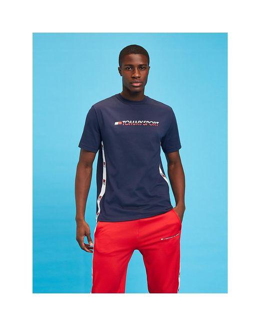 Tommy Hilfiger Blue Flag Tape T-shirt for men