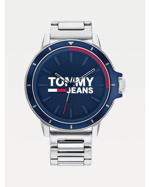 Tommy Hilfiger Roestvrijstalen Horloge Met Schakelband in het Metallic voor heren