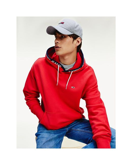 Tommy Hilfiger Red Flag Patch Organic Cotton Hoody for men