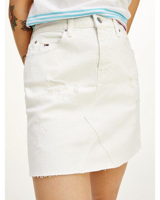 Tommy Hilfiger Multicolor Short White Denim Skirt