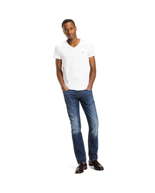 Tommy Hilfiger White Slim Fit Cotton T-shirt for men
