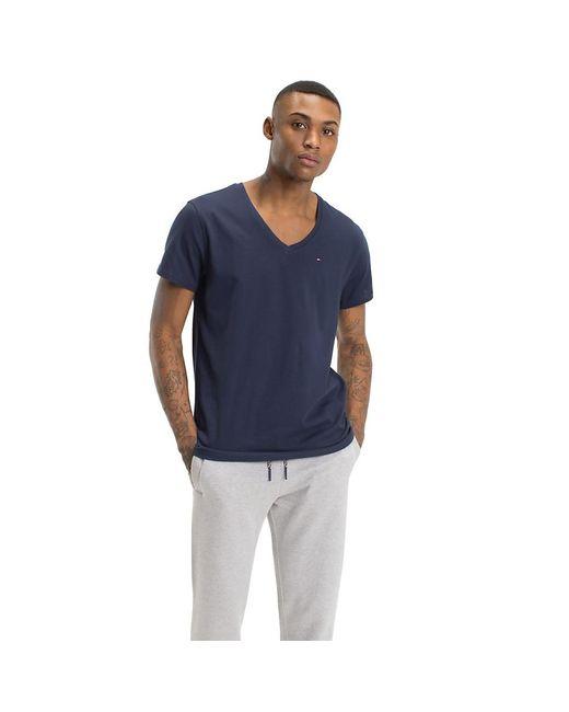 Tommy Hilfiger Blue V-neck T-shirt for men