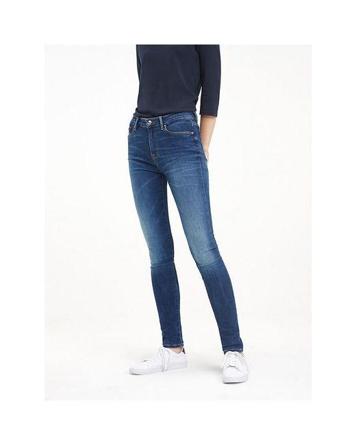 Tommy Hilfiger Como Heritage Faded Skinny Fit Jeans in het Blue