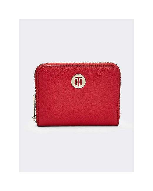 Tommy Hilfiger Red Th Core Medium Wallet