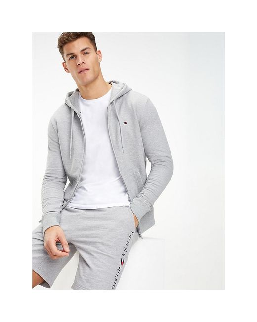 Tommy Hilfiger Gray Zip-thru Hoody for men