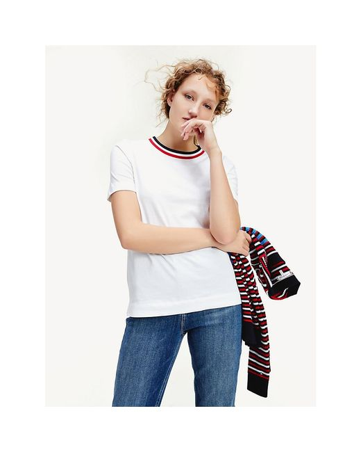 Tommy Hilfiger White Essential Contrast T-shirt