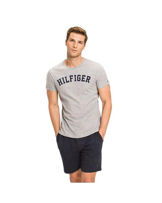 Tommy Hilfiger Gray Loungewear Logo T Shirt for men