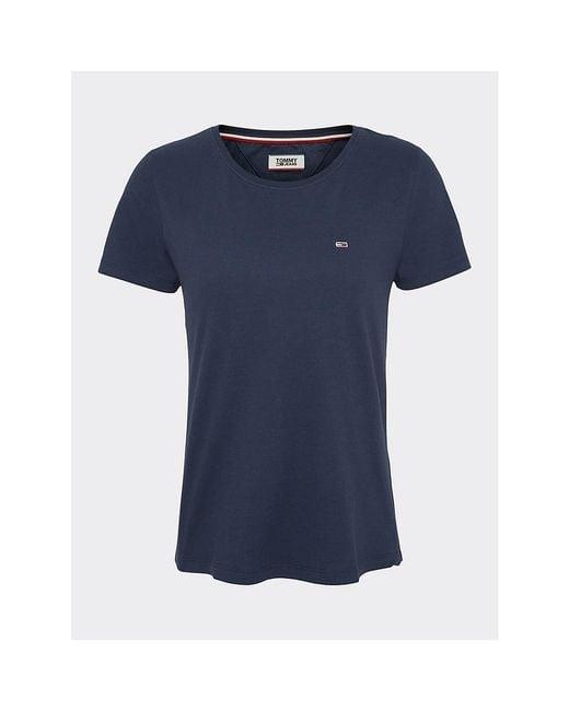 Tommy Hilfiger Blue Soft Organic Cotton Round Neck T-shirt