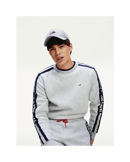 Tommy Hilfiger Gray Th Cool Logo Tape Sweatshirt for men