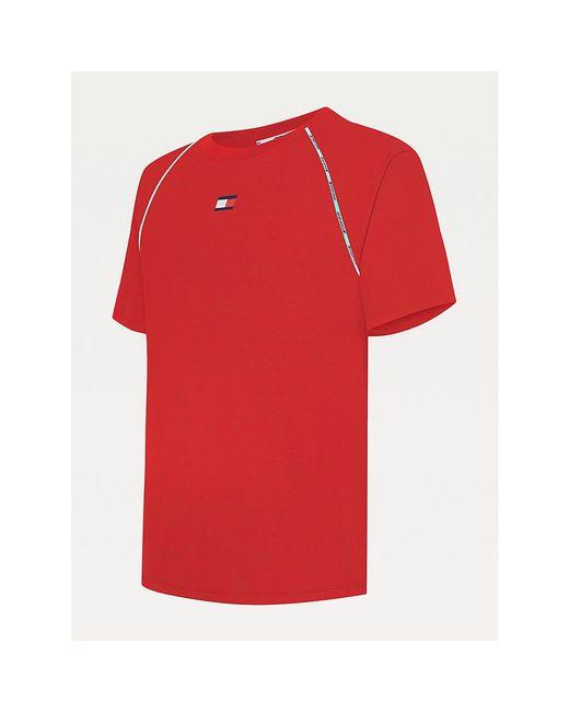 Tommy Hilfiger T-shirt Met Contrasterende Biezen in het Red voor heren