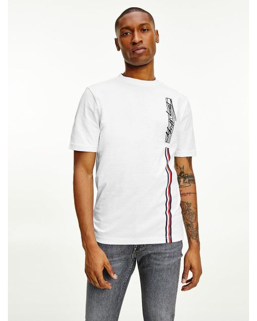 Tommy Hilfiger White Th Signature Pure Cotton Logo T-shirt for men
