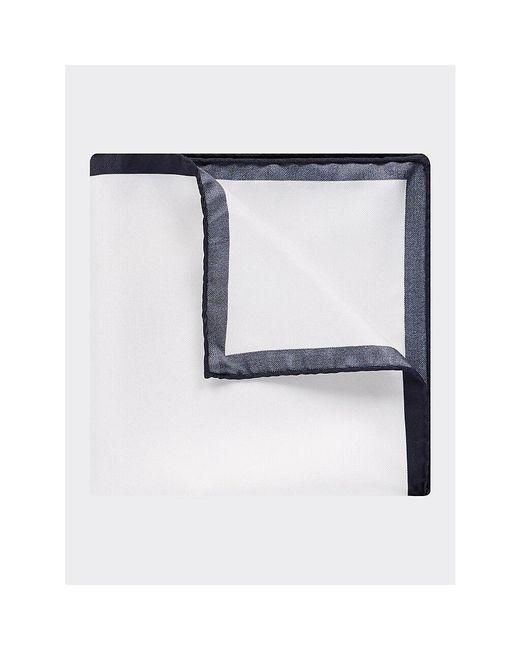 Tommy Hilfiger Blue Pure Silk Woven Pocket Square for men