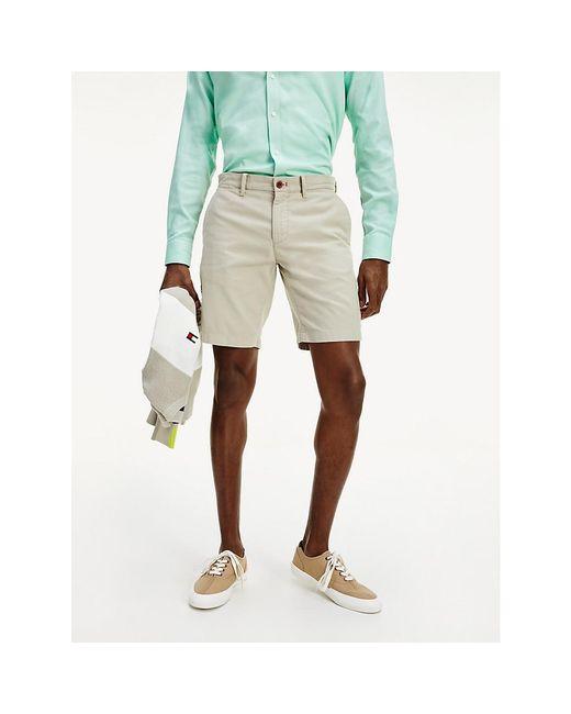 Tommy Hilfiger Natural Dobby Garment Dyed Shorts for men