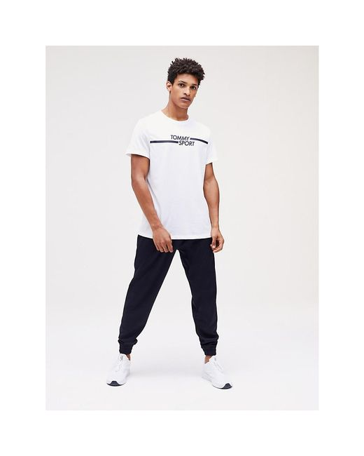 Tommy Hilfiger White Graphic Logo T-shirt for men