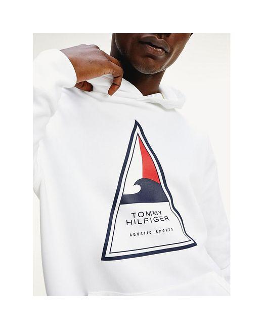 Tommy Hilfiger White Surf Logo Hoody for men