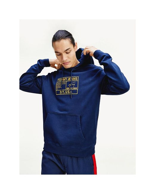 Tommy Hilfiger Blue Surplus Logo Relaxed Fit Hoody for men
