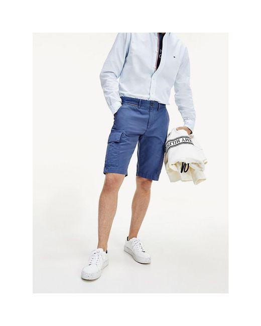 Tommy Hilfiger Blue Lightweight Cargo Shorts for men