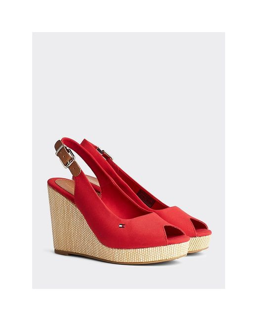 Tommy Hilfiger Red Iconic Slingback Wedges