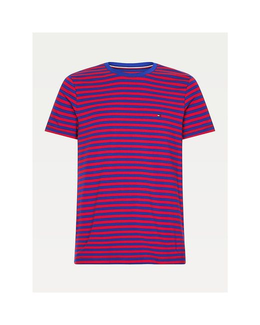 Tommy Hilfiger Red Organic Cotton Slim Fit T-shirt for men