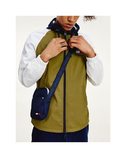 Tommy Hilfiger Green Colour-blocked Zip-thru Jacket for men