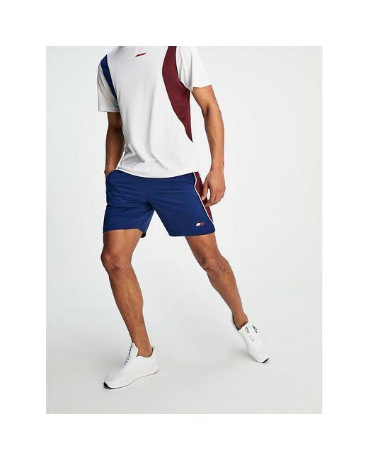 Tommy Hilfiger Blue Colour-block 7 Woven Shorts for men