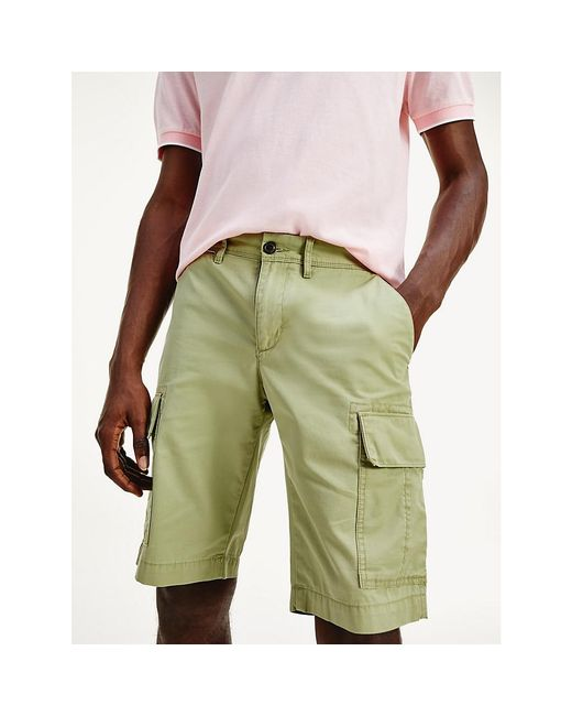 Tommy Hilfiger Green Lightweight Cargo Shorts for men