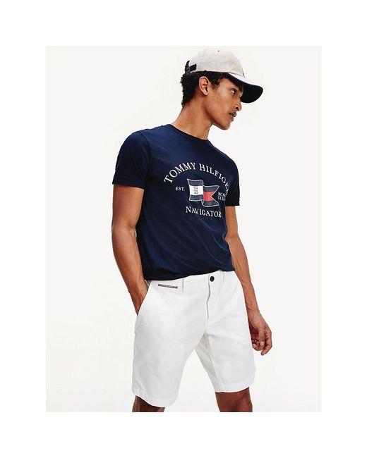 Tommy Hilfiger Blue Navigator Logo T-shirt for men