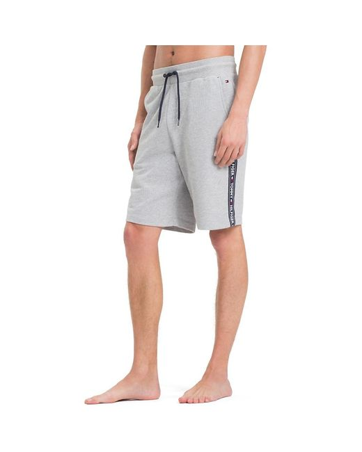 Tommy Hilfiger Gray Side Logo Drawstring Shorts for men