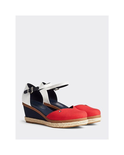 Tommy Hilfiger Red Closed Toe Wedges