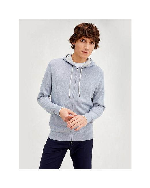 Tommy Hilfiger Gray Contrast Detail Zip-thru Hoody for men