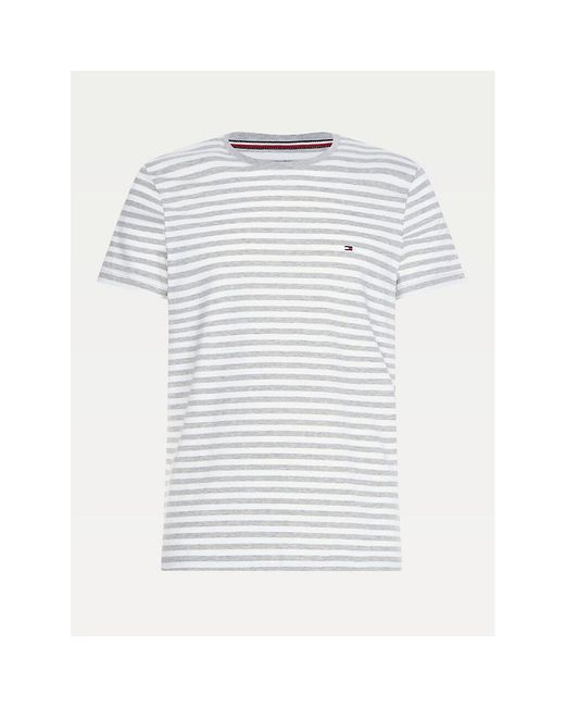 Tommy Hilfiger Gray Organic Cotton Stretch Slim Fit T-shirt for men