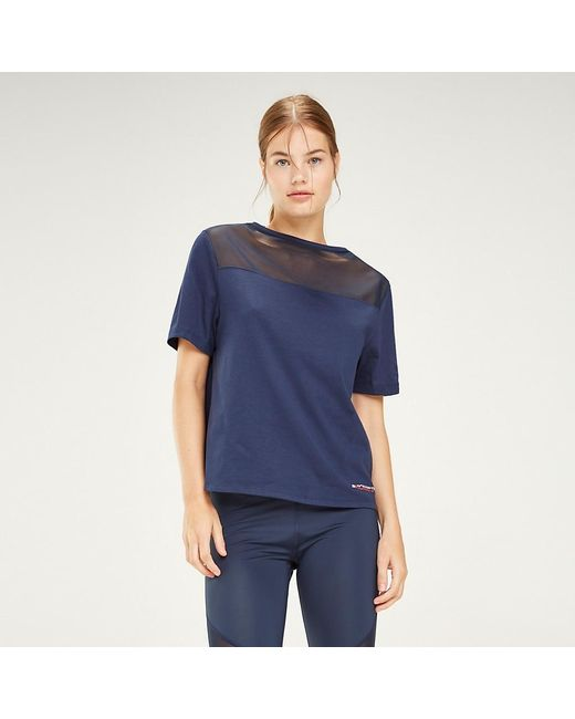 Tommy Hilfiger Blue Signature Tape Crew Neck T-shirt