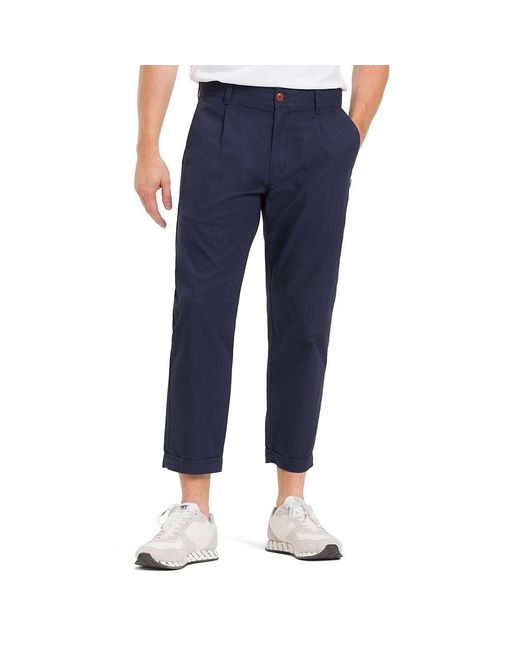6d2343639 Tommy Hilfiger - Blue Cropped Fit Turn Up Chinos for Men - Lyst ...