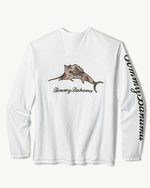 Tommy Bahama - White Don't Leaf Me Now Marlin Lux Long-sleeve T-shirt for Men - Lyst