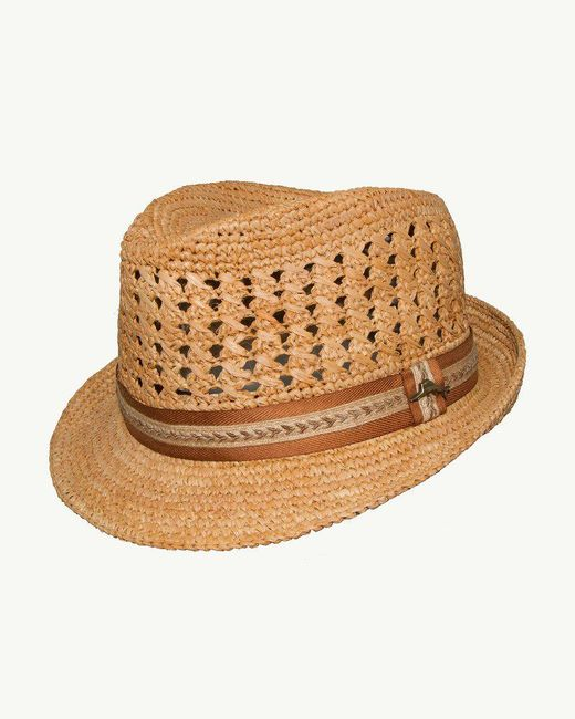 be982966d03c2 Tommy Bahama - Natural Crocheted Raffia Hat for Men - Lyst ...