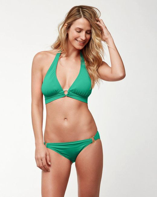 Tommy Bahama - Green Pearl Halter Bikini Top With Center Ring - Lyst