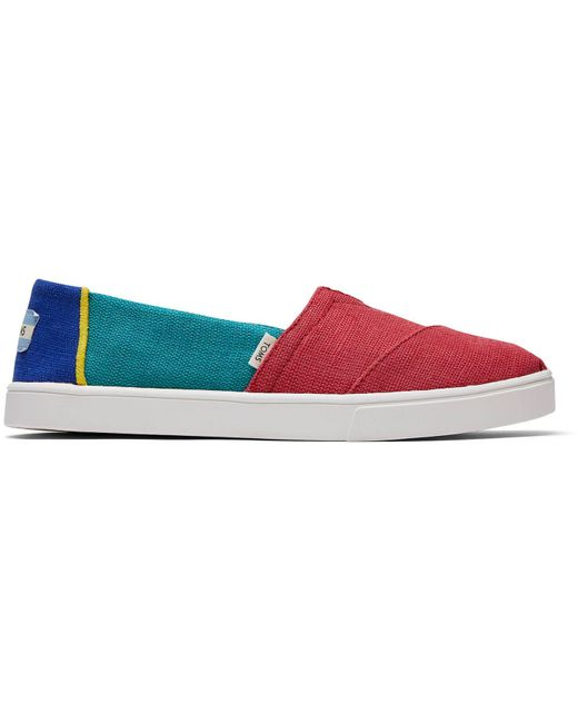 TOMS -gekleurde Canvas Cupzool Alpargatas Schoenen in het Red