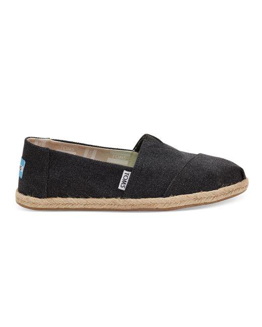 TOMS Zwarte Washed Classics Slip-on Schoenen in het Black