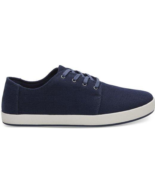 TOMS - Blue Navy Heritage Canvas Men's Payton Sneakers for Men - Lyst