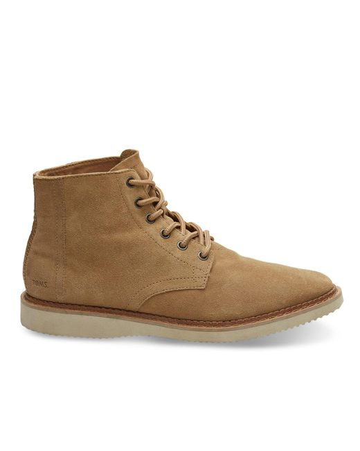 TOMS - Brown Toffee Suede Men's Porter Boots for Men - Lyst