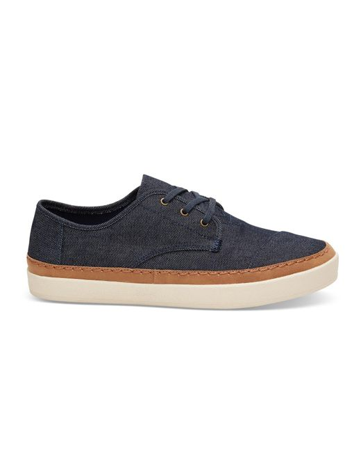 TOMS   Blue Navy Denim Men's Paseo Sneakers for Men   Lyst