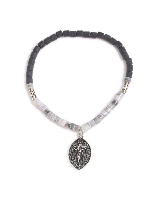 Topman - Gray Beaded Bracelet for Men - Lyst