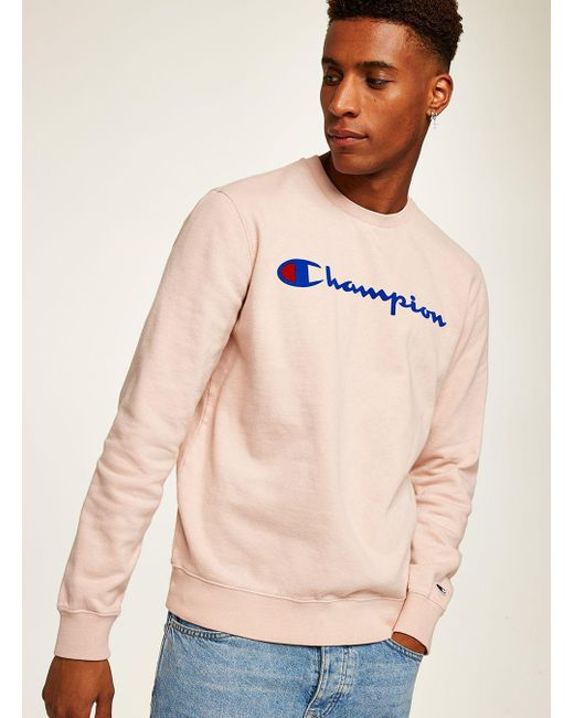 Topman - Champion Pink Sweatshirt for Men - Lyst