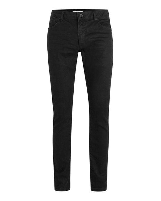320fe39625ec8 Topman - Black Oil Coated Stretch Slim Fit Jea for Men - Lyst ...