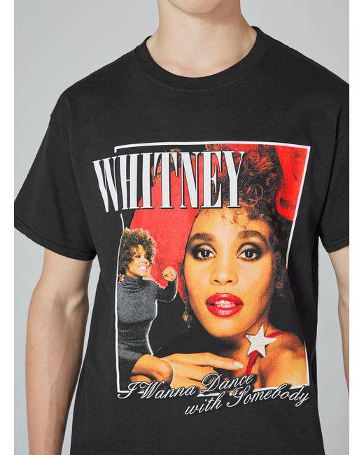 Lyst Topman Black Whitney Houston T Shirt In Black For Men