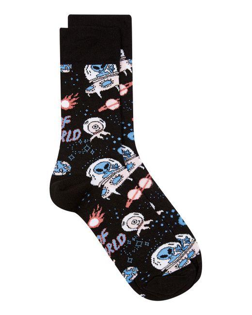 Topman   Black 'out Of This World' Alien Socks for Men   Lyst